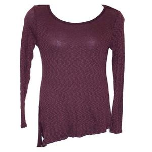 Cato asymmetrical long sleeve small thermal top